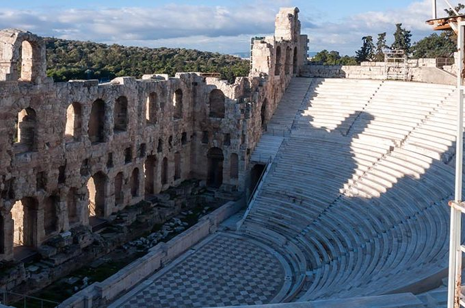 Odeon of Herodes Atticus in the Acropolis of Athens